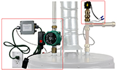 Hot water recirc system for tank style water heaters with hot water recirc lines